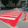 Több gyalogátkelőt is újrafestettek