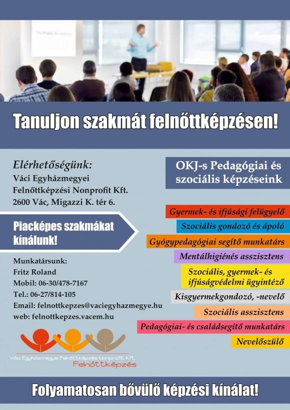 Váci Egyházmegyei Felnőttképzési Nonprofit Kft. OKJ-s képzései