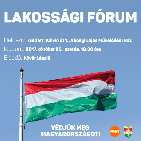 Lakossági fórum 2017.10.25.