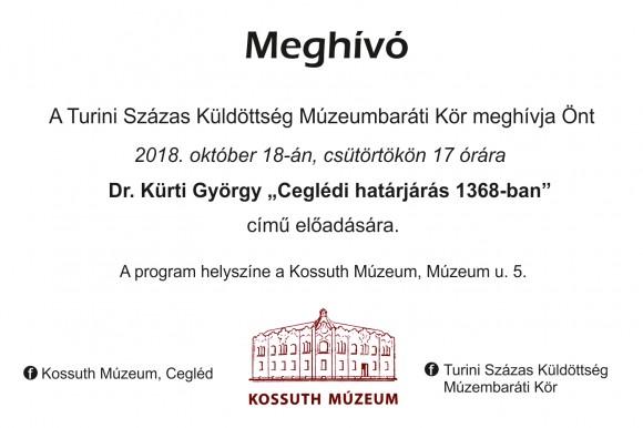 Dr. Kürti György: Ceglédi határjárás 1368-ban