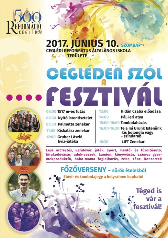 Reformáció 500 - Cegléden szól a fesztivál