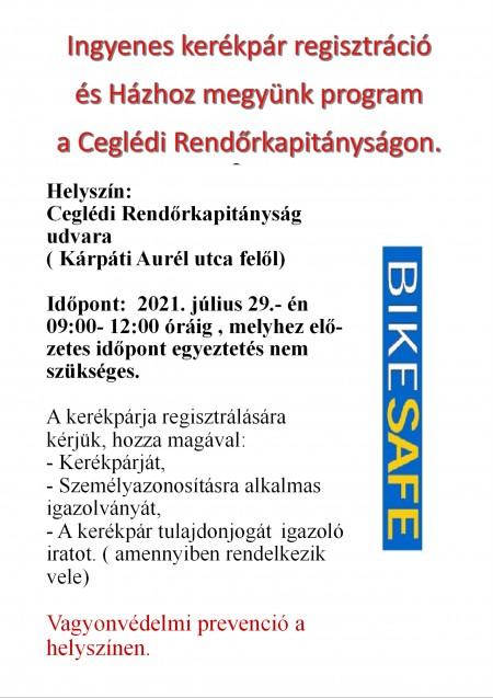 Ismét ingyenes kerékpár regisztráció