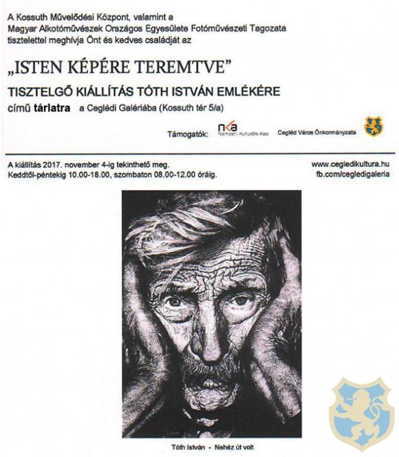 Tisztelgő kiállítás Tóth István emlékére