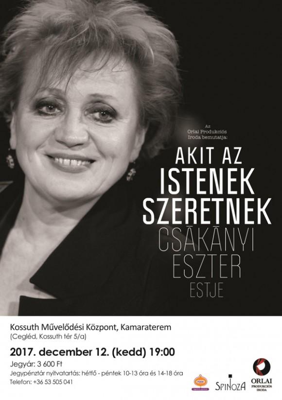 Csákányi Eszter estje a Kossuth Művelődési Központ kamaratermében