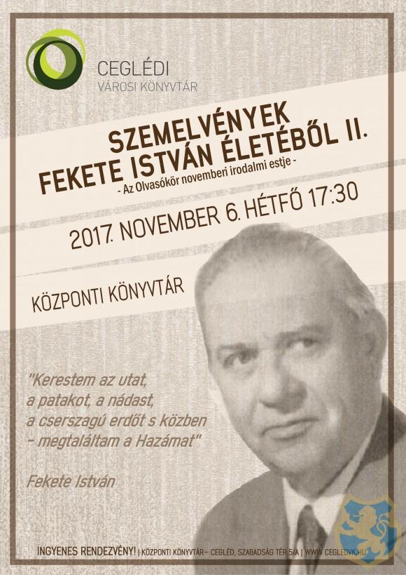 SZEMELVÉNYEK FEKETE ISTVÁN ÉLETÉBŐL II.