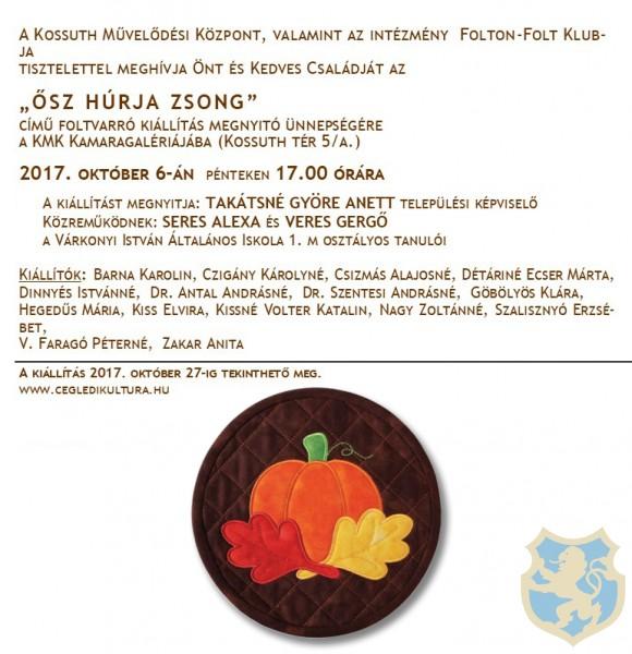 ŐSZ HÚRJA ZSONG - Foltvarrók kiállítása