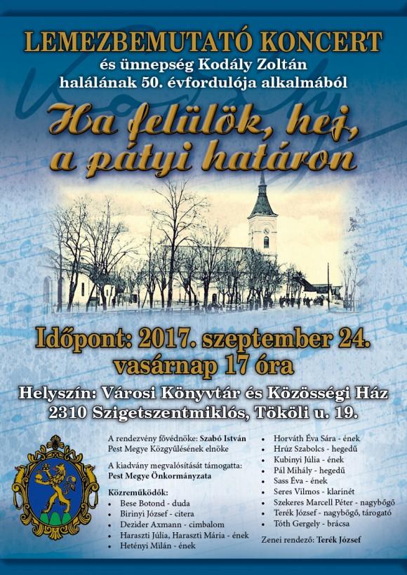 Lemezbemutató és koncert Kodály Zoltán emlékére