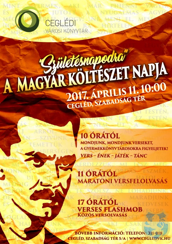 A Magyar Költészet Napja 2017.04.11.