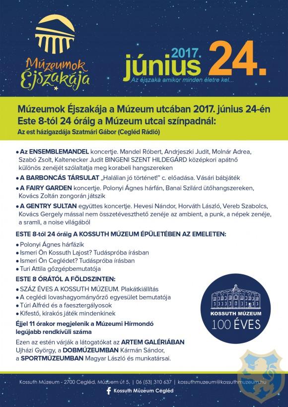 MÚZEUMOK ÉJSZAKÁJA 2017.