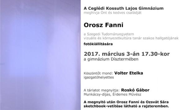 Orosz Fanni fotókiállítása a gimnáziumban
