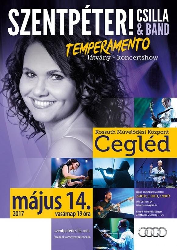 TEMPERAMENTO - Szentpéteri Csilla & Band - Cegléd 2017.05.14
