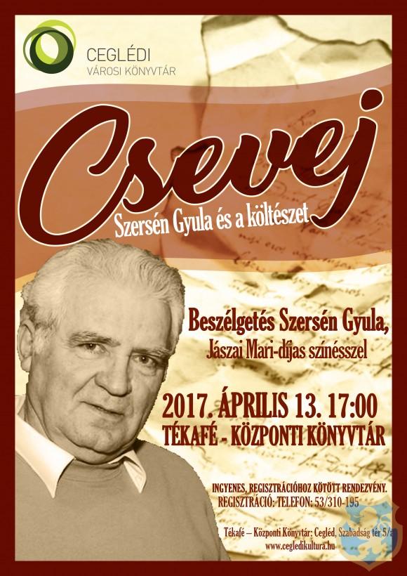 CSEVEJ - Szersén Gyula és a költészet