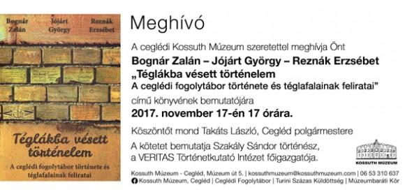 Téglákba vésett történelem - Könyvbemutató a Kossuth Múzeumban
