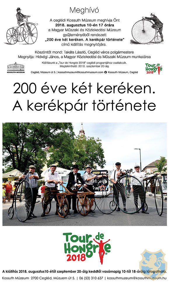 200 éve két keréken - A kerékpár története 2018.08.10.