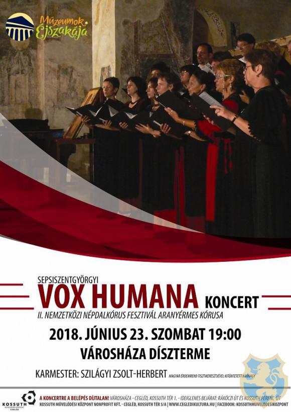 Sepsiszentgyörgyi VOX HUMANA koncert 2018.06.23.