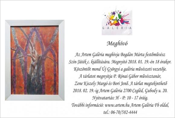 Bogdán Márta festőművész kiállítása az az Artem galériában