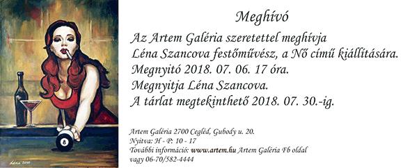 Léna Szancova festőművész az Artem galériában