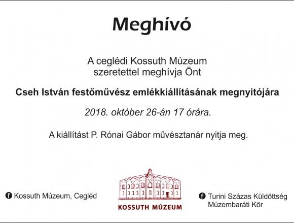 Cseh István emlékkiállítása a Kossuth Múzeumban