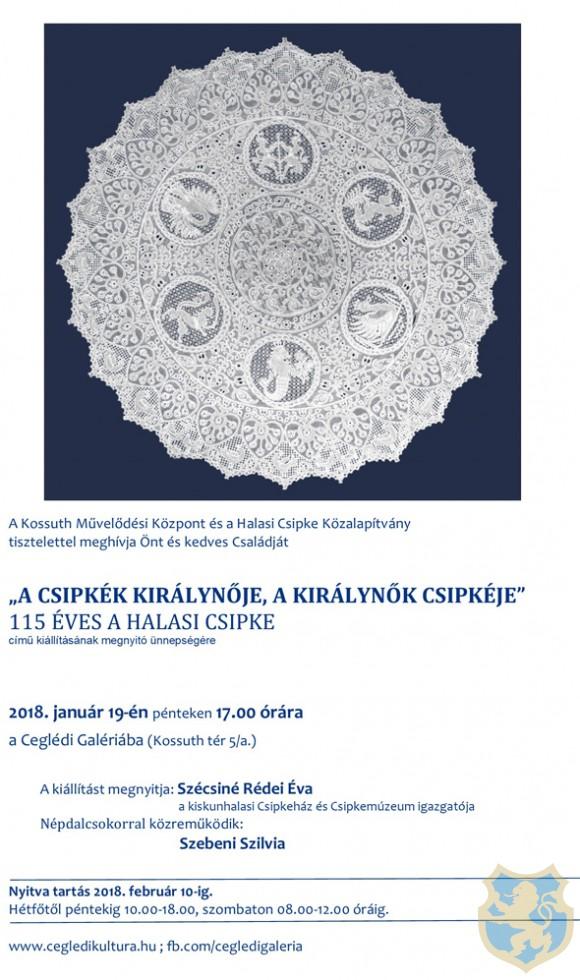 A csipkék királynője, a királynők csipkéje - kiállítás megnyitó a Ceglédi Galériában
