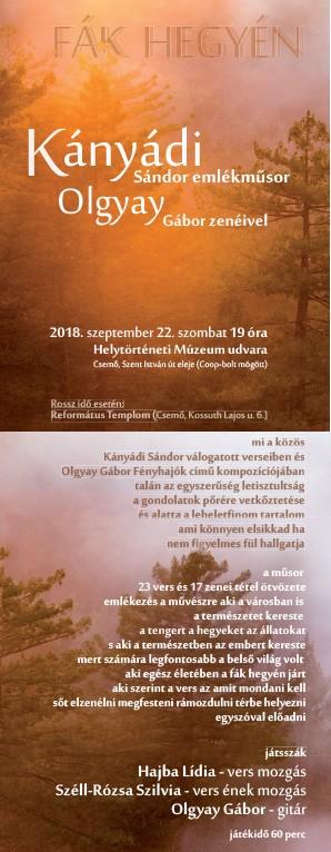Kányádi Sándor emlékműsor Olgyai Gábor zenéivel