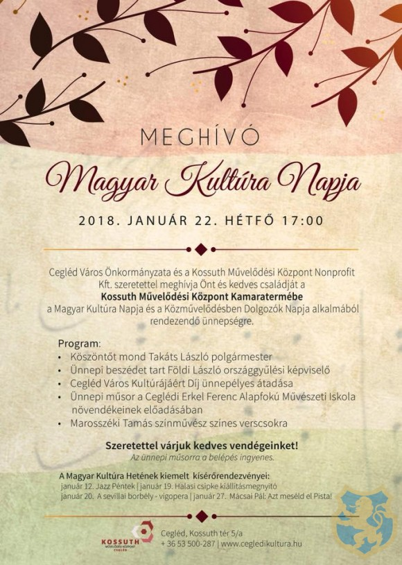 Magyar Kultúra Napja 2018.