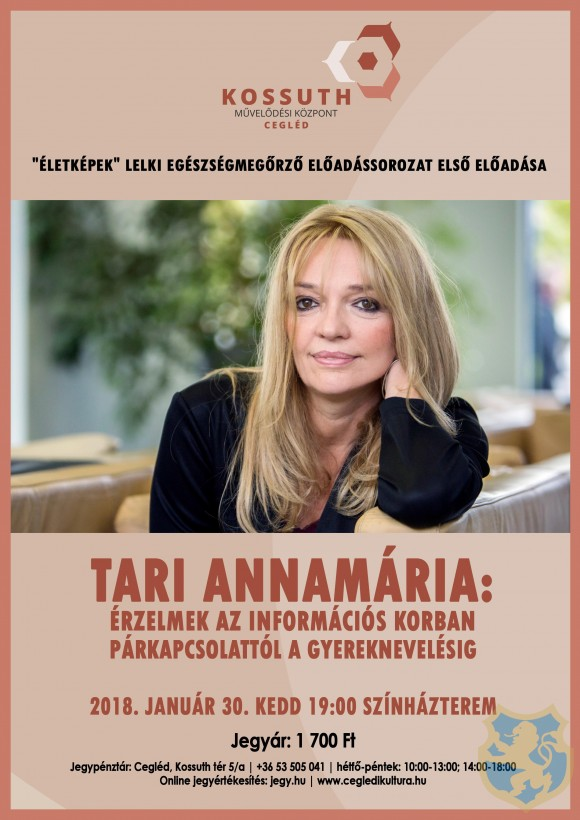 Tari Annamária előadása a Kossuth Művelődési Központ színháztermében