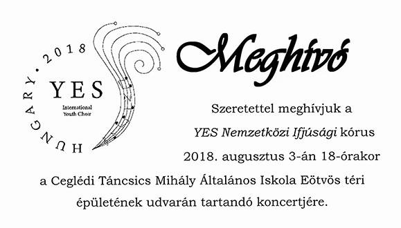 A YES Nemzetközi Ifjúsági kórus koncertje 2018.08.03.
