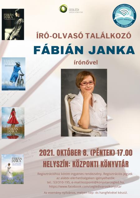 Író-olvasó találkozó Fábián Janka írónővel