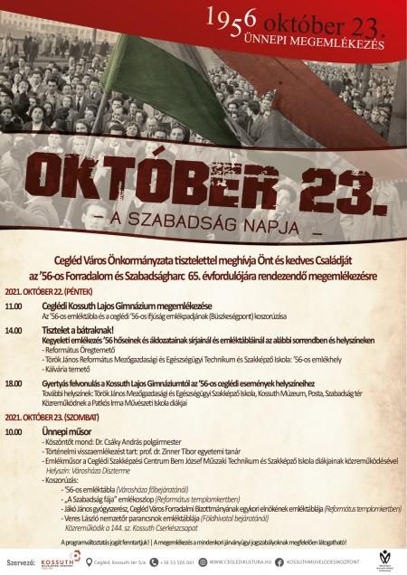 Október 23. ünnepi megemlékezés