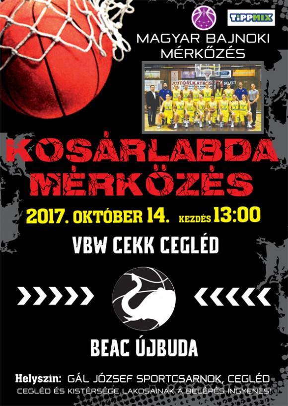 VBW CEKK CEGLÉD - BEAC ÚJBUDA 2017.10.14. 13 óra