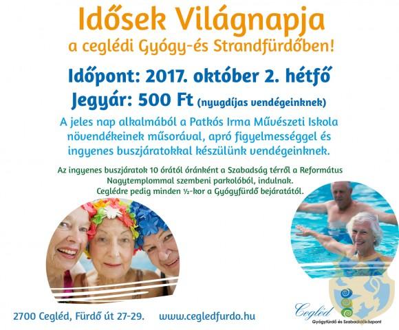 Idősek Világnapja a Ceglédi Gyógy és Strandfürdőben