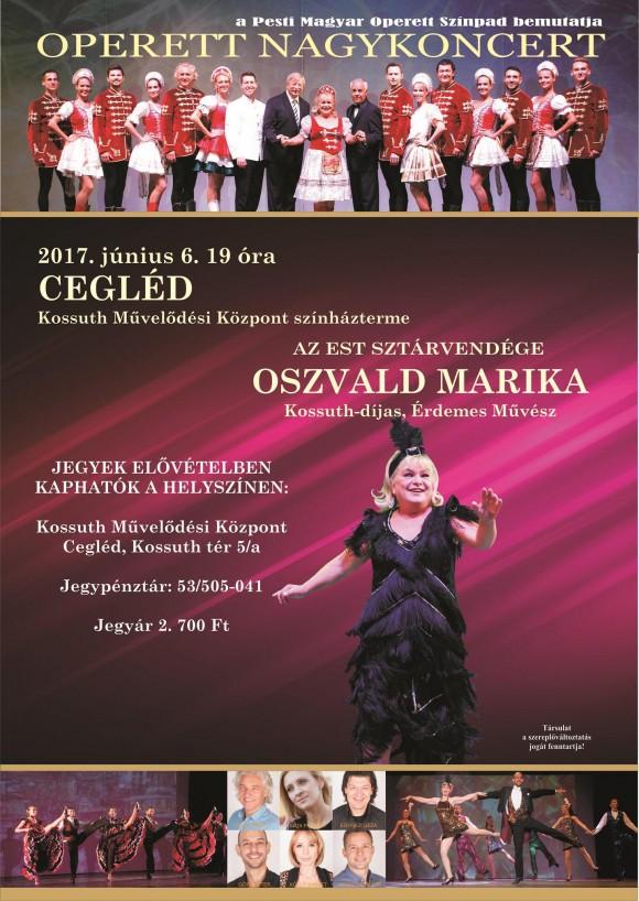Operett Nagykoncert a Kossuth Művelődési Központ színháztermében