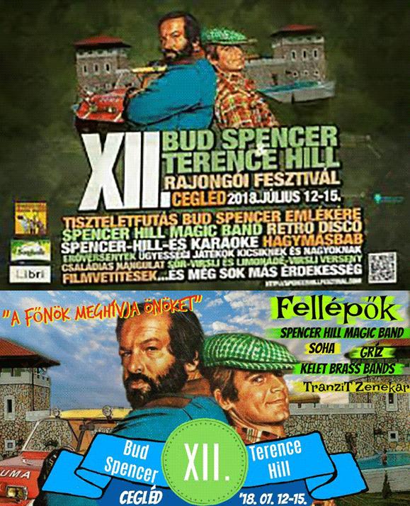 XII. Bud Spencer & Terence Hill rajongói fesztivál a Ceglédi Gyógyfürdő és Szabadidőközpontban