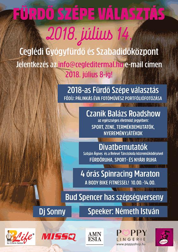 FÜRDŐ SZÉPE VÁLASZTÁS 2018.07.14.