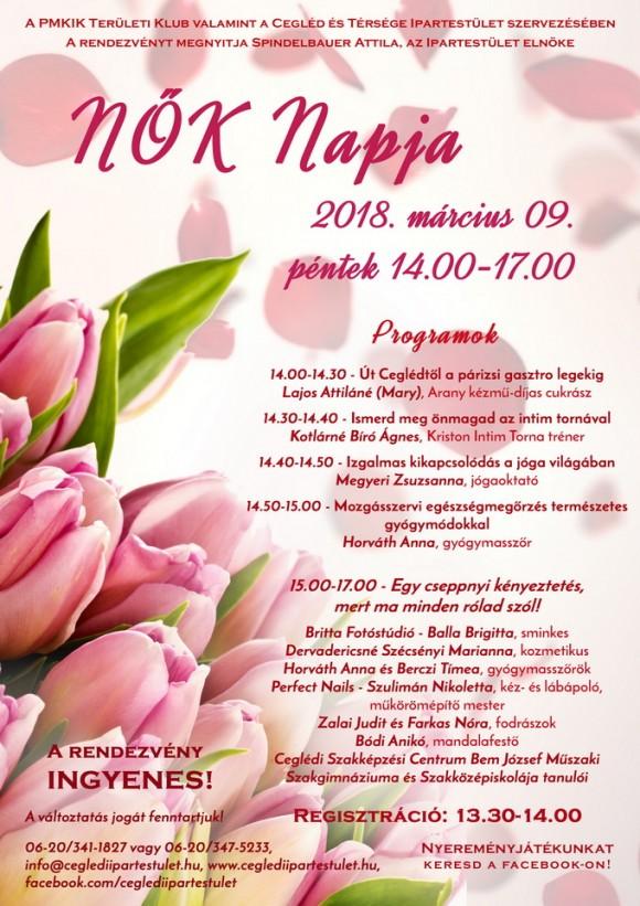 Nők Napja rendezvény a Cegléd és Térsége Ipartestület szervezésében