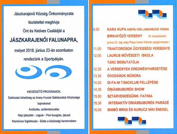 Jászkarajenői Falunap 2018.06.23.