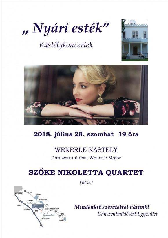 Szőke Nikoletta Quartet - Wekerle Kastély 2018.07.28.