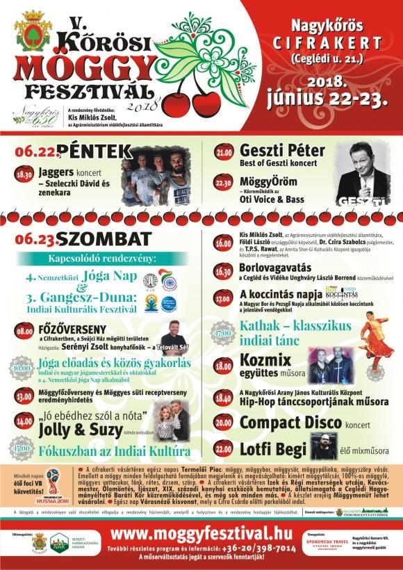 V. Kőrősi Möggy Fesztivál 2018. június 22-23.