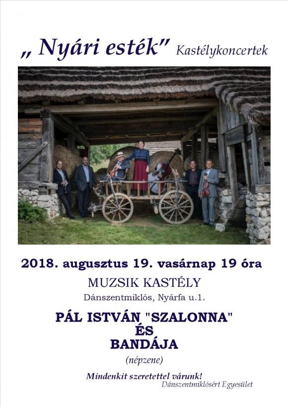 Nyári Esték Kastélykoncert 2018.08.19.