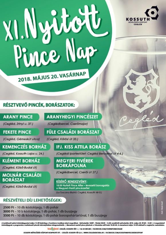 XI. Nyitott Pincenap 2018. május 20.