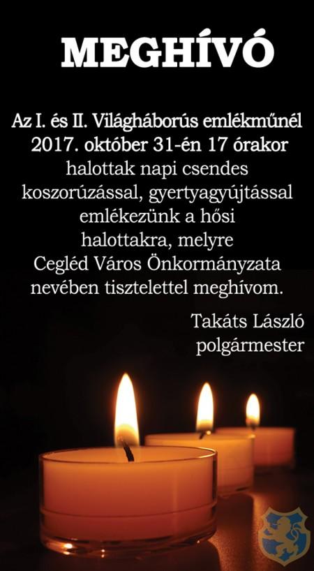 Halottak napi csendes megemlékezés 2017.10.31.