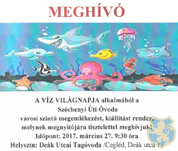 A VÍZ VILÁGNAPJA CEGLÉD 2017