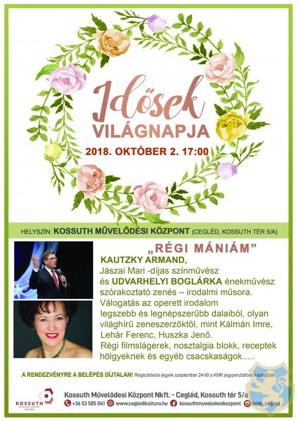Idősek Világnapja Cegléden 2018. október 2. 17:00