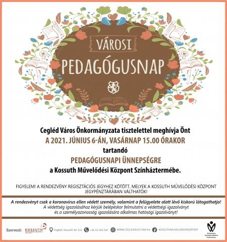 Városi Pedagógusnapi Ünnepség meghívó