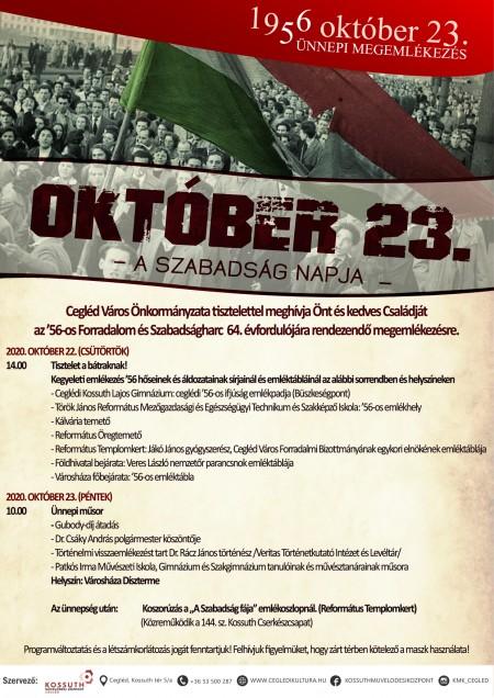 1956. október 23. - Ünnepi megemlékezés meghívó