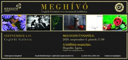 Meghívó Ceglédi Fotóklub éves beszámoló kiállítására