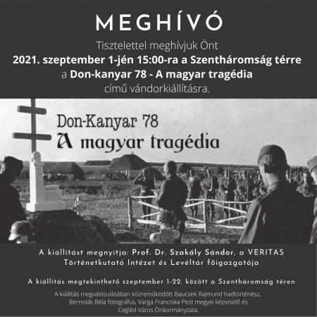 Don-kanyar vándorkiállítás - Meghívó