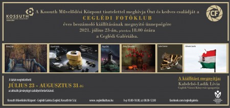 Ceglédi Fotóklub éves beszámoló kiállítása