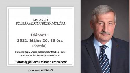 Meghívó polgármesteri beszámolóra