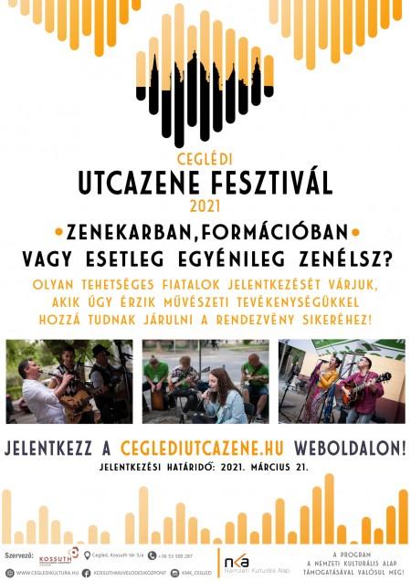 Ceglédi Utcazene Fesztivál felhívás